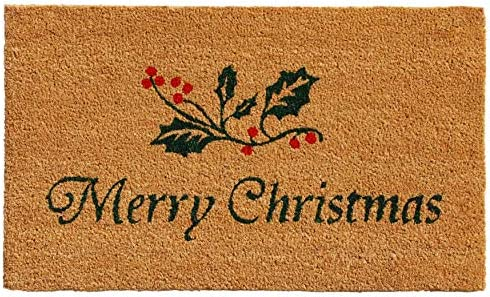 Calloway Mills AZ101882436 Holly Berries Doormat, 24 x 36 , Green Red