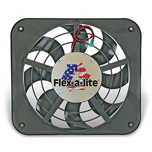 Flex-a-lite 111 Lo-Profile S-Blade Electric Puller Fan -