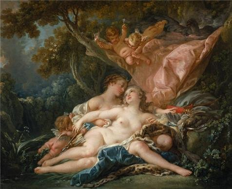 Oil Painting 'Francois Boucher,Jupiter In The Guise Of Diana,and The Nymph Callisto,1759' 10 x 12 inch / 25 x 31 cm , on High Definition HD canvas prints is for Gifts And Garage, Gym And Kitch decor (Tampa Sale Pool Tables For)