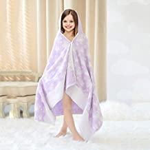 Children's Bath Towel Bathrobe Beach Towel Cloak Hooded with Hat Cotton
