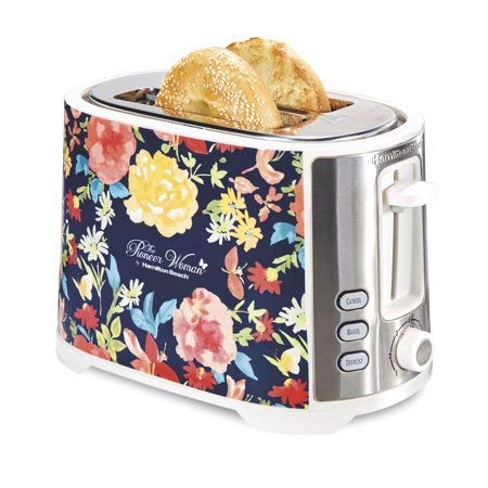 GreatBuy Pioneer Woman Extra-Wide Slot 2 Slice Toaster Fiona Floral by The Pionner Woman