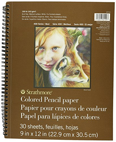 Strathmore Colored Pencil Spiral Paper Pad 9″X12″-30 Sheets