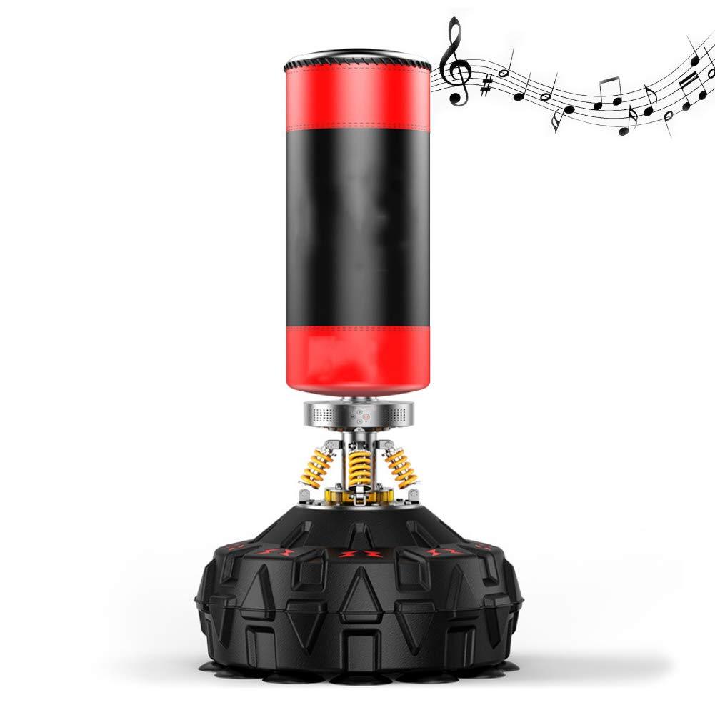 スポーツボクシングパンチングバッグ重いボクシング土のうのBluetoothワイヤレス65 cm直径安定したベースホームジムムエタイに適した B07Q7B7BQT Red