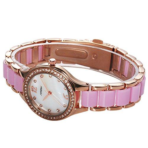 Amazon.com: pink SINOBI Fashion Womens Bracelet Watches For Elegant Ladies Watches Rose Gold Wristwatch Diamond Female Clock Relojes Mujer 2017: Cell ...