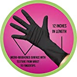 Framar Midnight Mitts Black Nitrile Gloves, 12-INCH