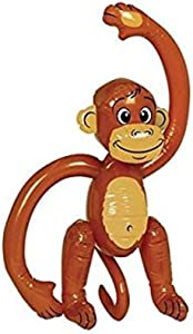 Amscan Inflatable Small Monkey | Party Favor | 1 piece