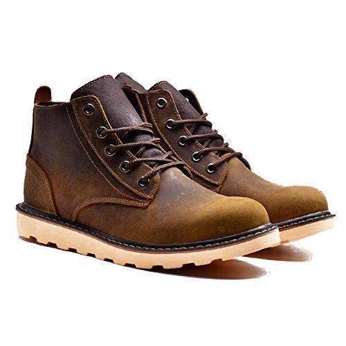 Chaussures De Sport Pour Hommes Occasionnels Alpinisme Automne Extérieur [fond Mou] Bottes Slip Marron-noir-a Longueur Du Pied = 41eu