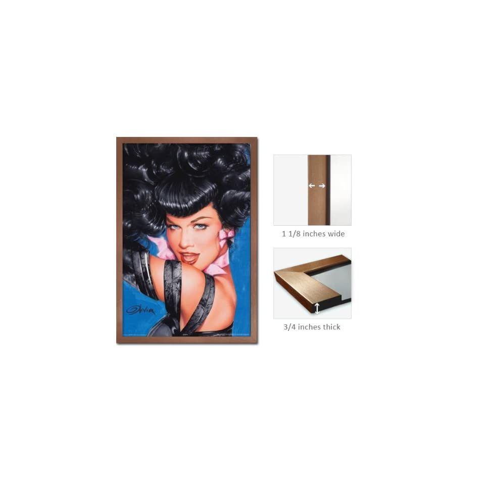 Bronze Framed Bettie Page Eyes Poster Olivia Pin Up Fr 24952
