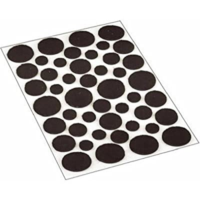 Shepherd Hardware 9425 Self-Adhesive Felt Surface Protection Pads, Assorted Sizes, 46-Count, Brown