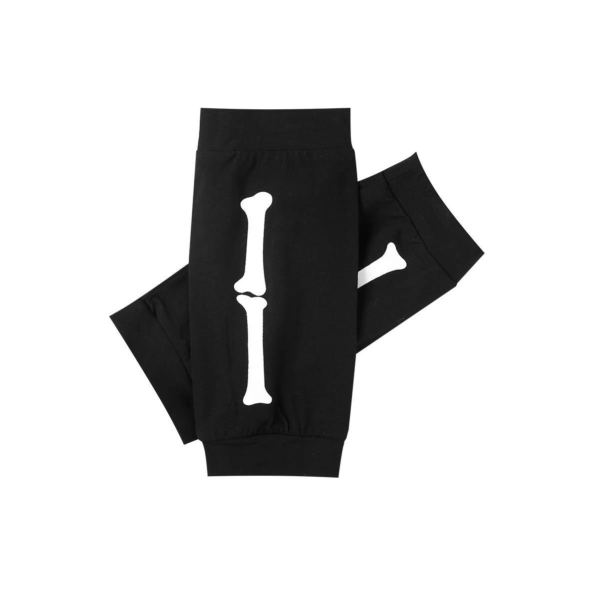 Catpapa Ensemble de Costume pour b/éb/é Fille avec t/ête de Mort et Jupe avec Leggings
