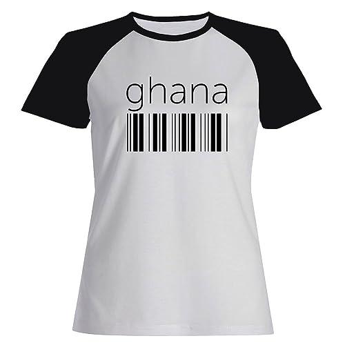 Idakoos Ghana barcode - Paesi - Maglietta Raglan Donna