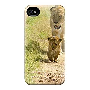 Back Cases Covers For Iphone 6 - Lioness With Cubs