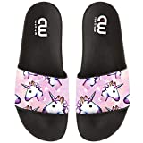Cartoon Cute Unicorn Pattern Summer Slide Slippers For Girl Boy Kid Non-Slip Sandal Shoes size 12