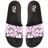 Cartoon Cute Unicorn Pattern Summer Slide Slippers For Girl Boy Kid Non-Slip Sandal Shoes size 2