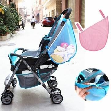 Cochecito de bebé cochecitos para niños juguetes de malla laterales de almacenamiento bolsa de pañales: Amazon.es: Hogar