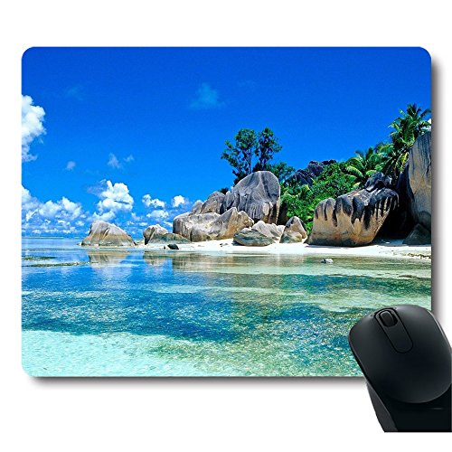 Vacation Mouse (Beaches France Seychelles Blu Sky Go Vacation Mouse Pad)