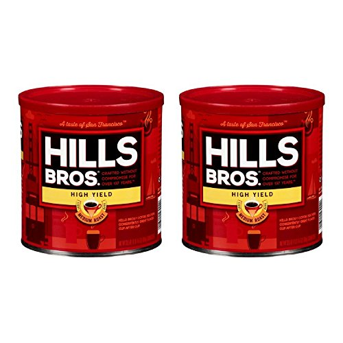 Hills Bros Coffee, High Yield Medium Roast Ground, 30.5 Ounce (2 PACK)