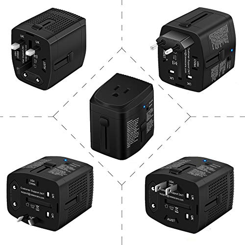 2000Watts Travel Adapter and Converter Combo Step Down Voltage 220V to 110V for Hair Dryer Steam Iron Laptop MacBook Cell Phone World Plug Power Adapter for US to UK Europe AU Over 150 Countries by HYTED (Image #5)