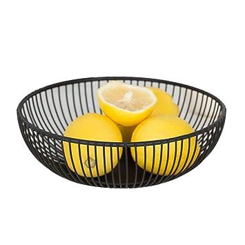 ZHER-LU Housewares Cesta de acero inoxidable para frutas, para cocina, verduras,