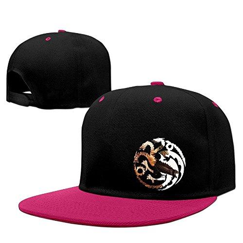 Fashion Daenerys Targaryen Hip Hop Hat Baseball Cap Pink (Vineyard Vines Men Hats)