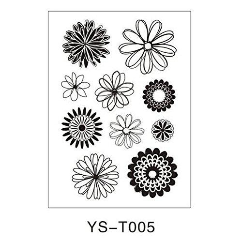 Julyshop Transparent Clear Rubber Stamp Alphabet Flower Sheet Cling for Scrapbook Seal DIY - Clear Alphabet Stamp Rubber