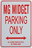 MG MIDGET PARKING ONLY - Novelty Miniature Parking Signs - Ideal gift for the MG Enthusiast