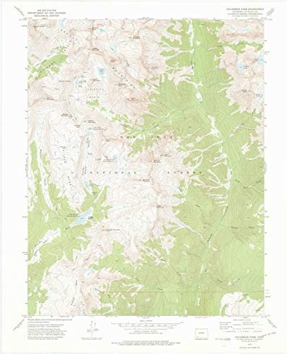 YellowMaps Columbine Pass CO topo map, 1:24000 Scale, 7.5 X 7.5 Minute, Historical, 1973, Updated 1975, 27.1 x 21.9 in - Tyvek ()