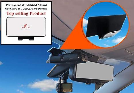 NEW COBRA RADAR DETECTORS Permanent Windshield Mount 9-17 Good For Most Models!!