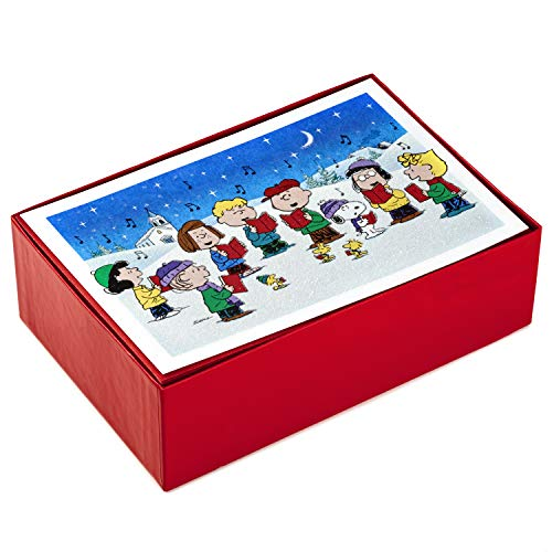 Hallmark Boxed Christmas Cards, Peanuts Gang (40 Cards with Envelopes) (Cards Christmas)