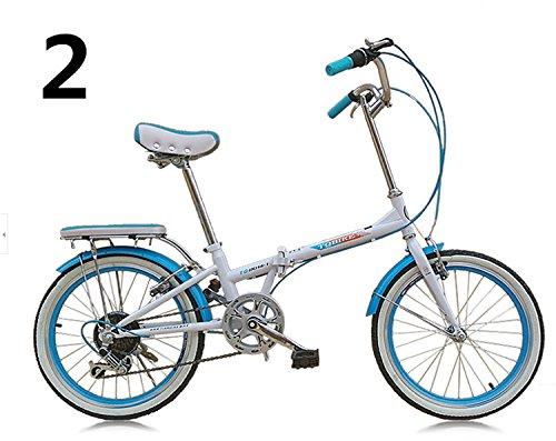 20インチ 折りたたみ自転車 折畳自転車 おりたたみ自転車MTB おりたたみ自転車W398 B00QA13EFG ブルー ブルー