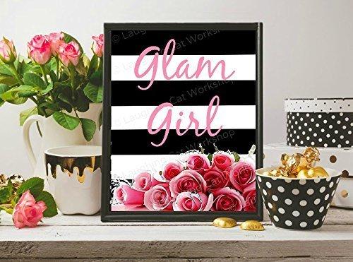 Amazon Com Glam Girl Teen Girls Room Decor Funny Bathroom Print
