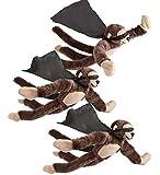 HearthSong Flying Flingshot Monkeys, set of 3