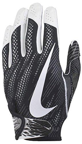 Nike Football Glove - Vapor Knit 2.0 (Black/White, X-Large)