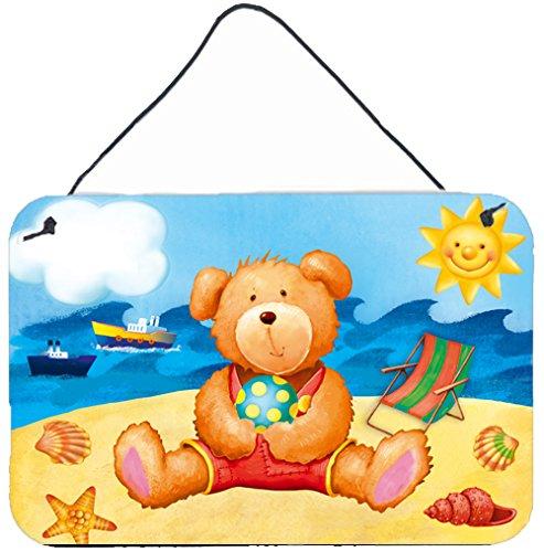 Caroline's Treasures Teddy Bear on The Beach Wall or Door Hanging Prints APH0088DS812, 8