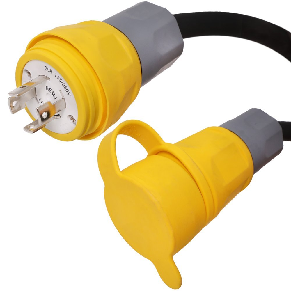 L14-30 Generator Power Cord w/Hubble Twist Lock Watertight Connectors - Iron Box Part # IBX-2250 (100 ft)