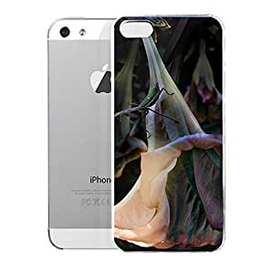 Hu Xiao Case for iPhone 5/5s Floral rUrV0ZMWdC4 Trumpet Flower