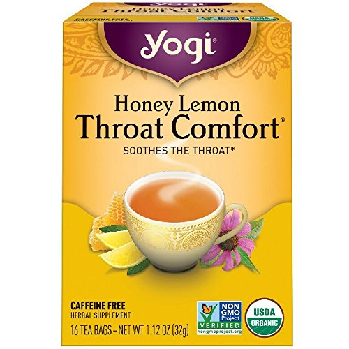 (Yogi Tea Throat Comfort, Honey Lemon 16 ea)