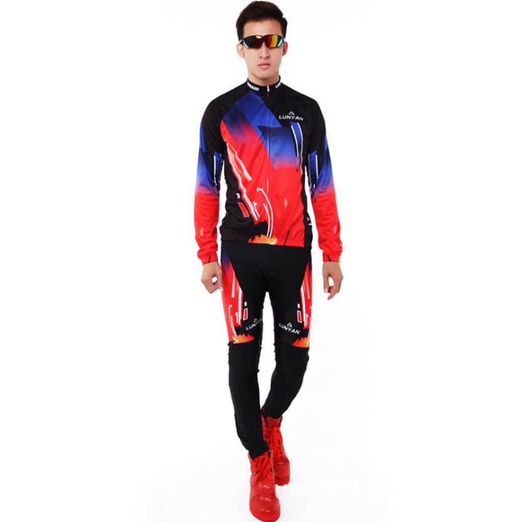 Lilongjiao Radsportbekleidung Männer Jersey Langarm-Anzug Herrenbekleidung Plus Hosen Outdoor Sportswear