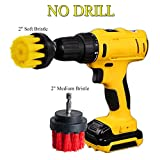 HIFROM 2'' Drill Brush - Soft Medium Power Drill Attachment Scrub Cleaning Brush Kit for Bathroom Showers Tile Grout Kitchen Pool Glass Carpets Upholstery Leather