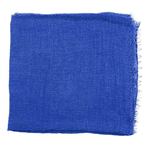 Abeelah Cotton Crinkle Hijab Scarf- Muslim, Indian, African Fashion Compatible (Royal Blue) by Abeelah (Image #1)