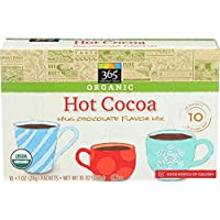 365 Everyday Value, Organic Hot Cocoa, Milk Chocolate Flavor Mix (10 - 1 oz Packets), 10 oz