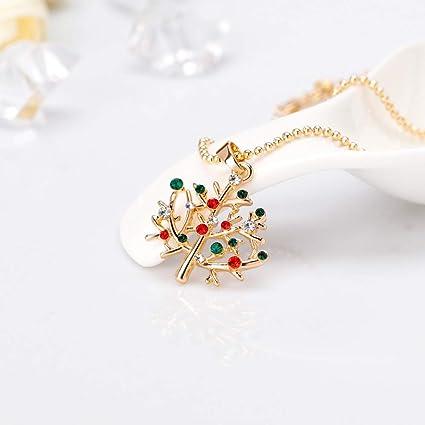 Xiaojing - Collar de cadena para mujer, diseño de Navidad: Amazon ...