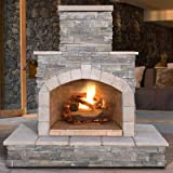 Natural Stone Propane / Gas Outdoor Fireplace Review