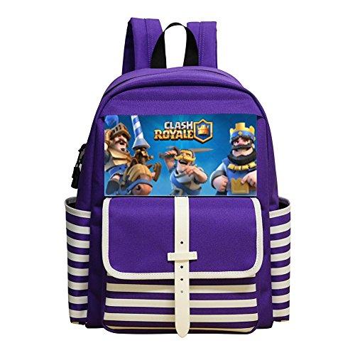 Price comparison product image BAO-DAN2 Kid's Toddler Clash Royale Logo School Bag Backpack Bookbag purple
