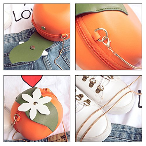 Main Cuir Pu Sodial Embrayage Cross Femmes De En Fruit Sac A Forme Orange vwx1RzqvZ