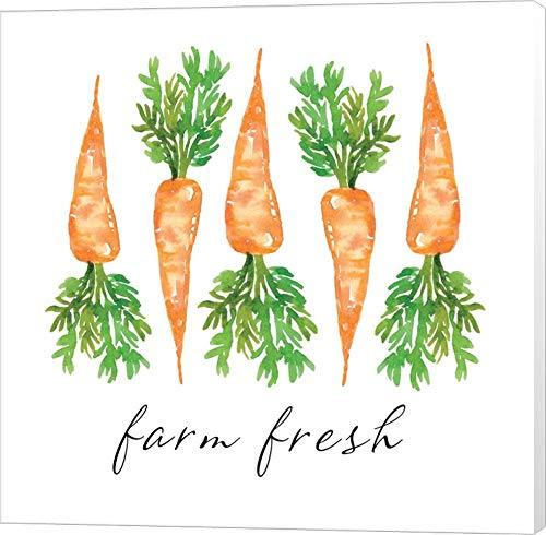 Carrots Farm Fresh - Farm Fresh Carrots by Elise Engh Canvas Art Wall Picture, Museum Wrapped, 14 x 14 inches