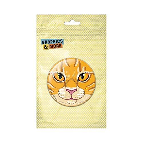 (Orange Tabby Cat Face Pet Kitty Pinback Button Pin Badge - 1 Inch)