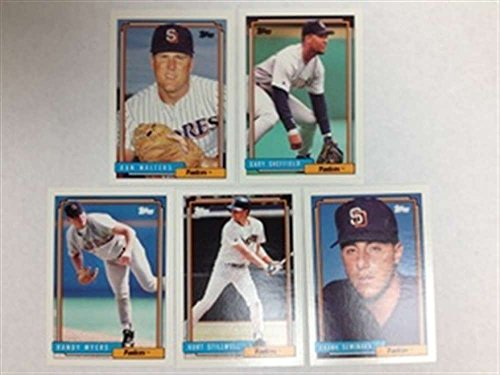 fan products of 1992 Topps Traded San Diego Padres Team Set 5 Cards Gary Sheffield