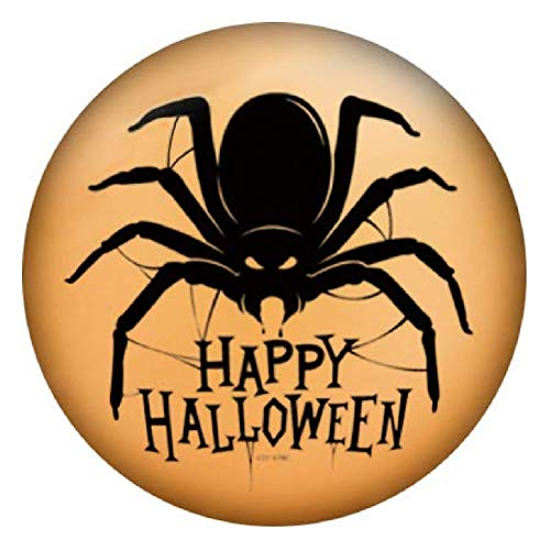 My Prime Gifts Snap Jewelry Happy Halloween Spider Painted Enamel Standard Size 18-20mm