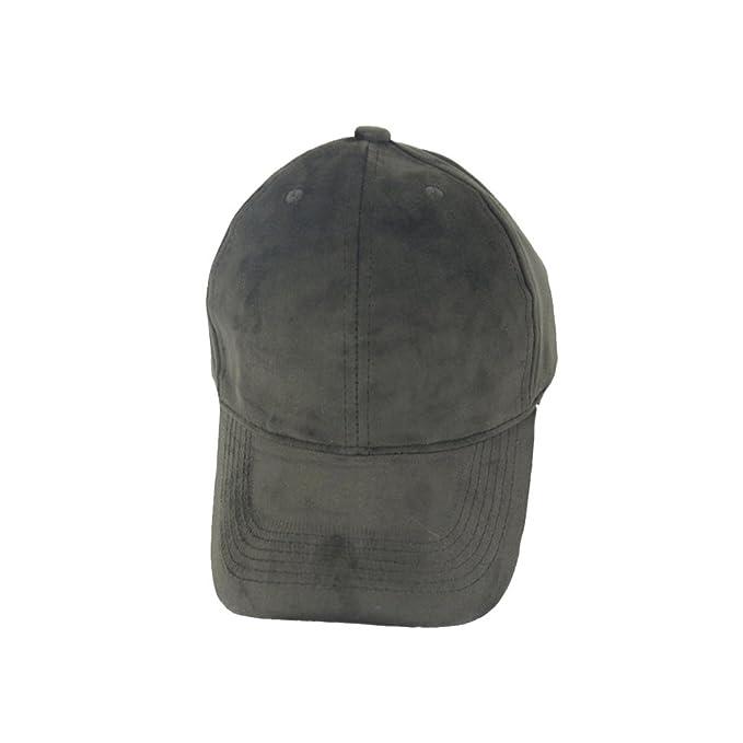 OULII Berretto da baseball morbido in velluto unisex Calotta solida  regolabile in cappello sportivo (grigio df258901c527